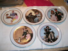 Set of 5 Norman Rockwell Cw Special Edition Commemorative plates