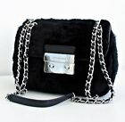 Michael Kors Tasche/Bag Sloan SM Shoulder FUR Lammfell Black NEU!