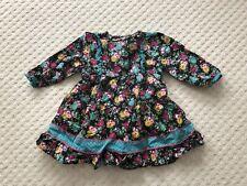 Beau motif fleuri noir KENZO filles robe de bon état 12 mois