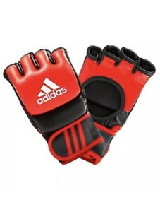 Adidas Fighting Gloves Leather Grappling Gloves UFC Adidas MMA Boxing - Red