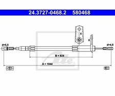 ATE Cable, parking brake 24.3727-0468.2