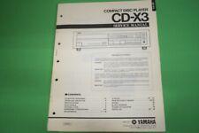 Originale Service Anleitung und Schaltplan Yamaha CD-X3 CD-Spieler!!