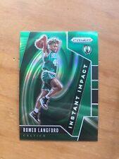 2019-20 Panini Prizm Romeo Langford Instant Impact Green Prizm - Celtics RC #11