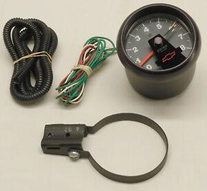 "Auto Meter GM General Motors 3 3/4"" Chevrolet Bowtie Factory Tachometer 10185001"