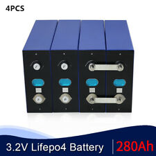 (4PCS) 3.2V 280AH Battery LiFePO4 Lithium iron phospha Large capacity for RV EV
