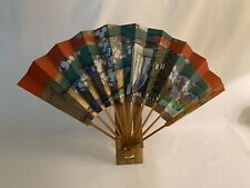 Japanese Hand Painted Fan Wall Decor