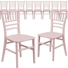 10 Pk. Kids Pink Resin Chiavari Chair