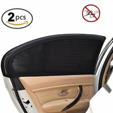 2 X Car Sun Shade Shield Cover for Rear Side Window Max UV Protection Black XXL