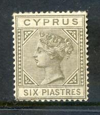 Cyprus Queen Victoria 1882-6 die 6p mint (2017/06/12#04)