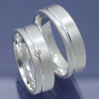 Silber Freundschaftsringe Eheringe Trauringe Verlobungsringe Glanzrille P6226786