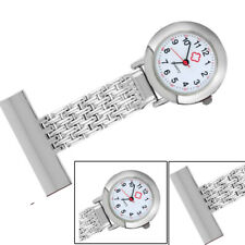 Nurse Analog Quartz Watch Stainless Steel Watch Case Fob Pocket Brooch Watches