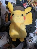 Pokemon Center London Large Detective Pikachu Plushie Plush NEW Centre OFFICIAL