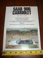 1987 SAAB 900 CABRIOLET - ORIGINAL ARTICLE