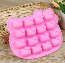 NEW 16 Hello Kitty Shape Silicone Cake Mold Tools Baking Pan Tray