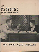 1953 Playbill The Solid Gold Cadillac Josephine Hull