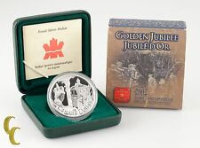 2002 Canada Proof Sterling Silver $1 Queens Golden Jubilee Coin w/ Box & CoA
