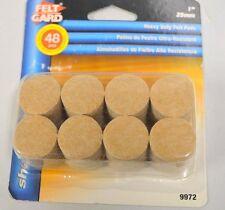 "Shepherd Felt Gard #9972,  1"" (25mm)-48 heavy duty felt pads - round w/sticky ba"