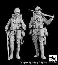 Black Dog 1/35 French Soldiers WWI Set fully equipped Standing (2 Figs.) F35202