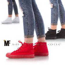 scarpe uomo donna unisex ginnastica sneakers sportive fitness alte tela Z9511-4