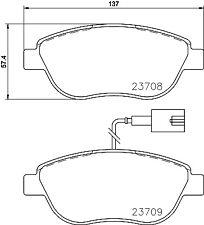 Mintex Front Brake Pad Set MDB3155  - BRAND NEW - GENUINE - 5 YEAR WARRANTY