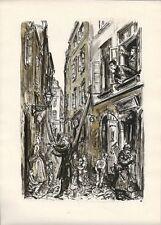 Antica mappa, Varsavia, Cavaliere Street, Old Town