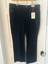 Lands End Womens Jeans Petite 16 28L Bootcut  Fit 2 Tummy Control Dark Blue NWT