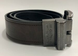 Levis Reversable Ratchet Belt Brown Black Leather 32 / 80 Width 1.5 Fits 32-36