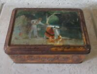 Old Biscuits tin box advertising candy France vintage ad vtg