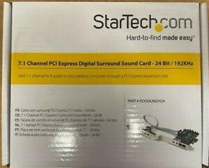 PEXSOUND7CH StarTech.com PCIE 7.1 CHANNEL SURROUND SOUND CARD SPDIF AUDIO ADAPTE