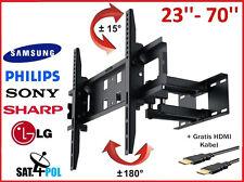 TV Halterung Hammer LED LCD PLASMA Wandhalterung Schwenkbar 23 - 70 Zoll.