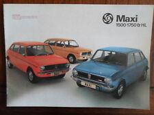 AUSTIN MAXI 1500 1750 & HL orig 1978 UK Mkt Sales Brochure - 3197/D