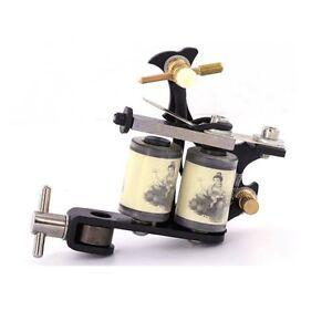 BLACK PROFESSIONAL TATTOO MACHINE for power supply gun pedal & clip cord QUALITY