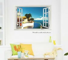 Window View Scene bird Wall Art Stickers Removable Decal Home Decor kids nursery