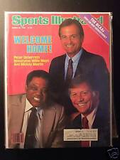 1985 Sports Illustrated-San Francisco Giants Willie Mays Yankees Mickey Mantle
