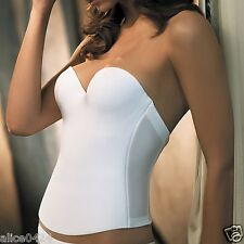 FELINA 36 C Essentials Hidden Corset Bustier 7643 White Ship Fast New Fast Ship