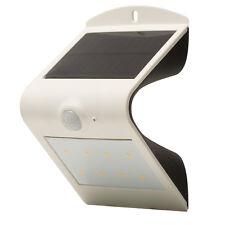 Luceco Solar Guardian PIR Wall Light 3000k White LED Ip44