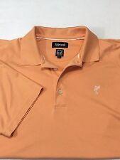 Ashworth Polo Shirt Men's Large Orange Solid Color EZ Tech golf