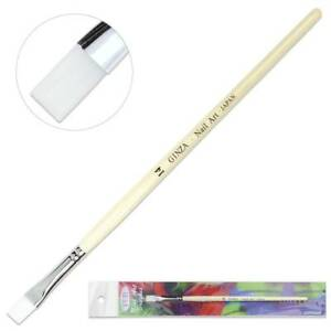 Ginza Professional Quality Gel Nail Art Brush with White Wooden Handle