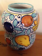 "Beautiful Deruta Hand Painted Vase Made in Italy For Cottura 5 1/4"" Tall"