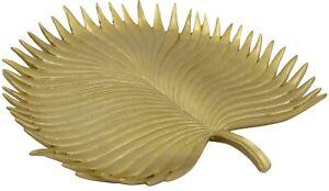 Large Gold Leaf Tray Centerpiece Bowl Presentation Bowl Heavyweight Resin