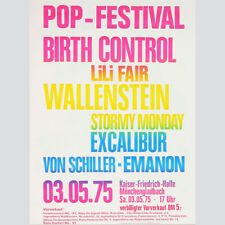 Pop-Festival. Birth Control - LiLi Fair - Wallenstein... Originalplakat 1975