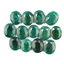 13 Pcs Natural Emerald 18mm-20mm Oval Cut Finest Green Gemstones Wholesale Lot