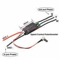 3-phase Motor Speed Controller DC 7-24V Brushless Hallless ESC w/ Potentiometer