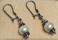 SILPADA Sterling Silver 925 Light the Way Pearl Earrings W0922