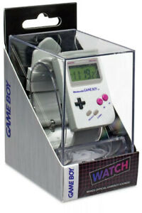 Nintendo Gameboy Official Watch Retro Gray Brand New Game Boy ALARM SOUNDS!
