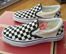 VANS CLASSIC SLIP-ON CHECKERBOARD VN000EYEBWW  BLACK/WHITE  MEN SZ 7 (WOMEN 8.5)