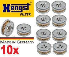 Set of 10-Hengst Power Steering Filter Mercedes R107 W123 W124 W126 W140 W201