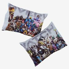 Overwatch Characters Collage Print Super Soft 2 Pack Pillowcase Set NIP!