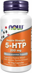 NOW Supplements, 5-HTP (5-hydroxytryptophan) 200 mg, Double Strength,...