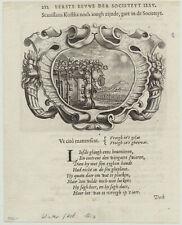 WEINTRAUBE wächst im GLAS Orig. Kupferstich um1650 WEIN Winzer Weinberg Weinrebe
